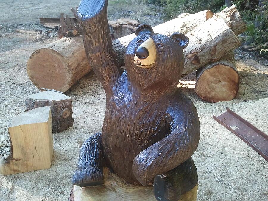 Bear Sculpture - Greeter Bear by William Luke