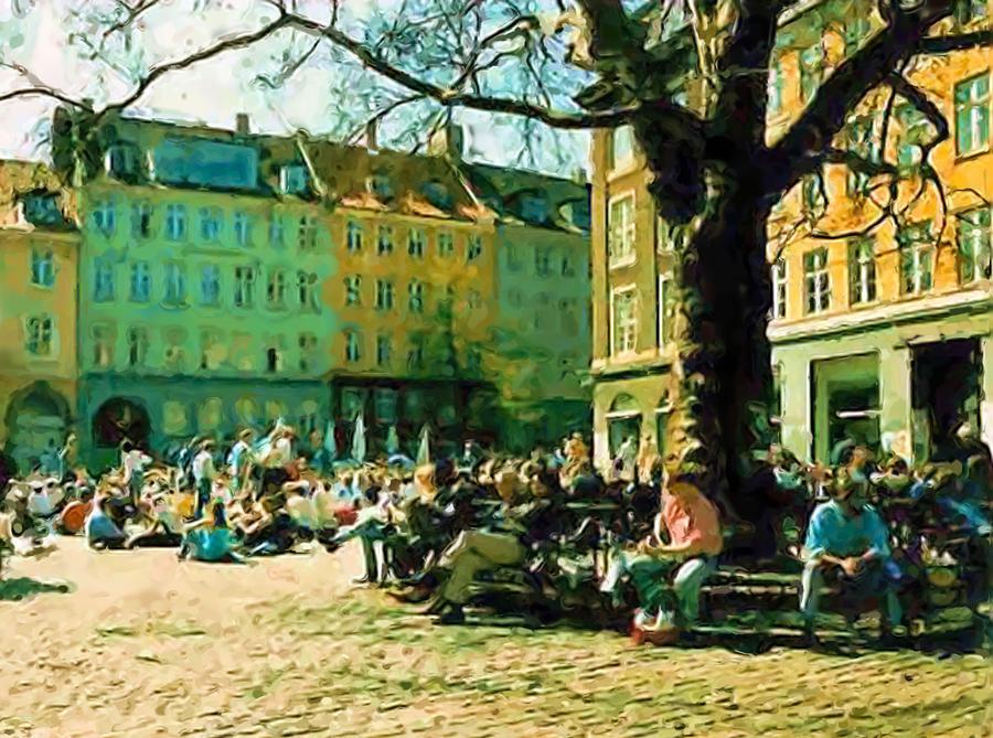 Grey Brothers Square I Digital Art by Asbjorn Lonvig