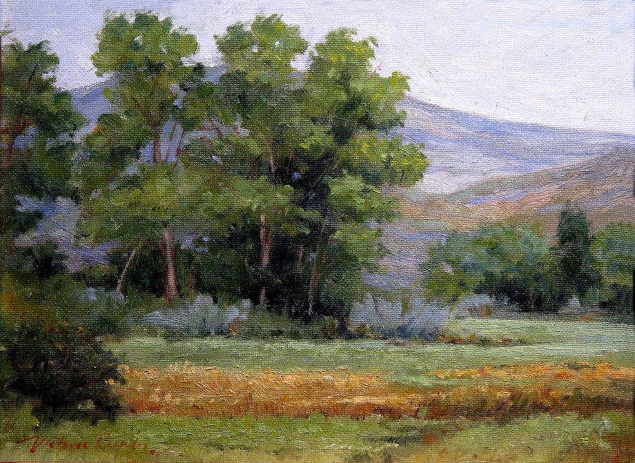 Grey Day Painting by Victoria  Broyles