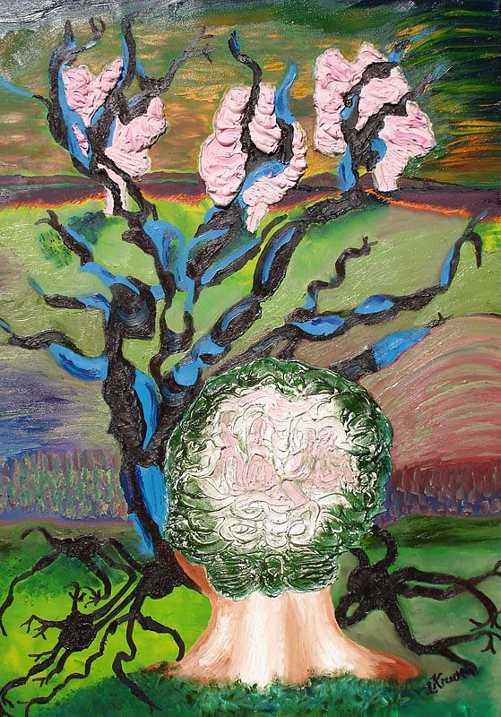 Brain Painting - Grey Matter by Lisa Kramer