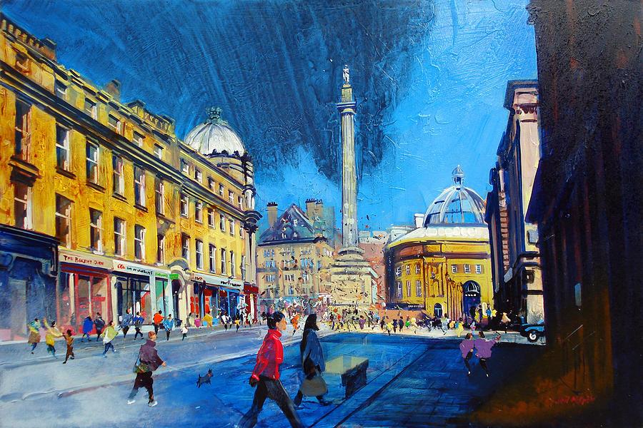 Newcastle Painting - Grey Street Newcastle by Neil McBride