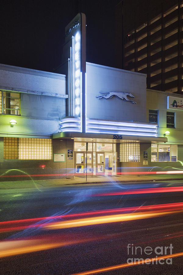 Building Photograph - Greyhound Bus Station by Jeremy Woodhouse