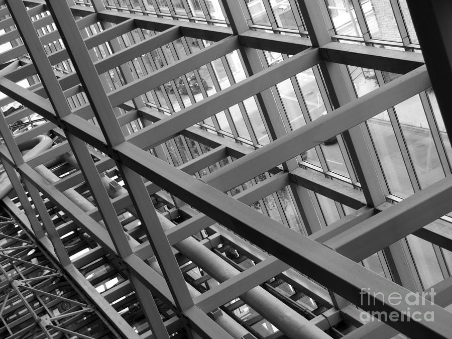 Metal Photograph - Grid Iron by Kimberley Bennett