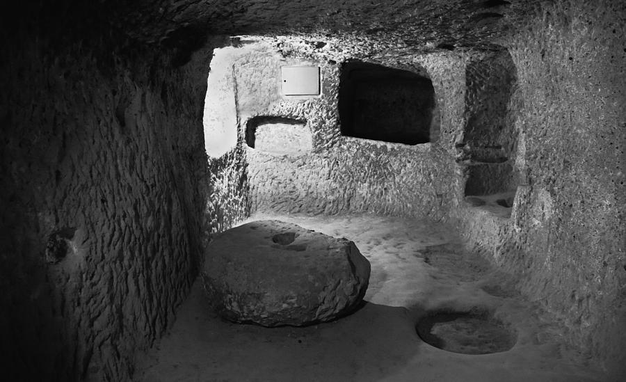 Interesting Photograph - Grindstone At Underground Derinkuyu by Kantilal Patel