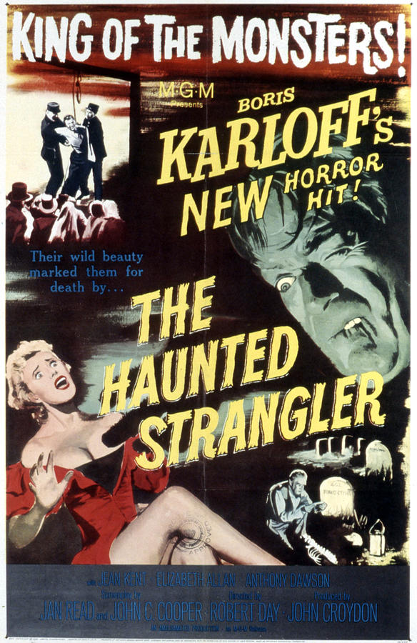 1950s Poster Art Photograph - Grip Of The Strangler, Aka The Haunted by Everett