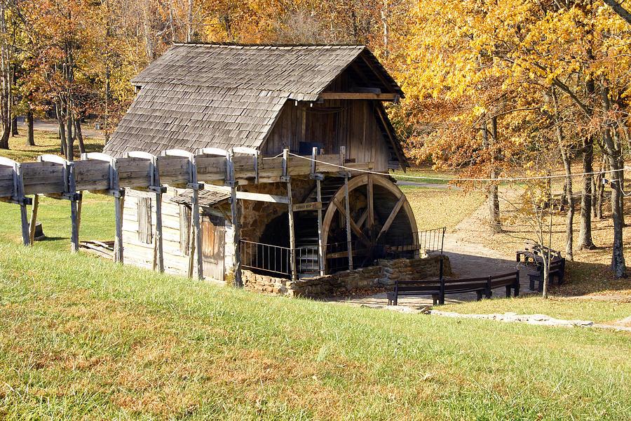 Photographs Photograph - Grist Mill 2 by Franklin Conour