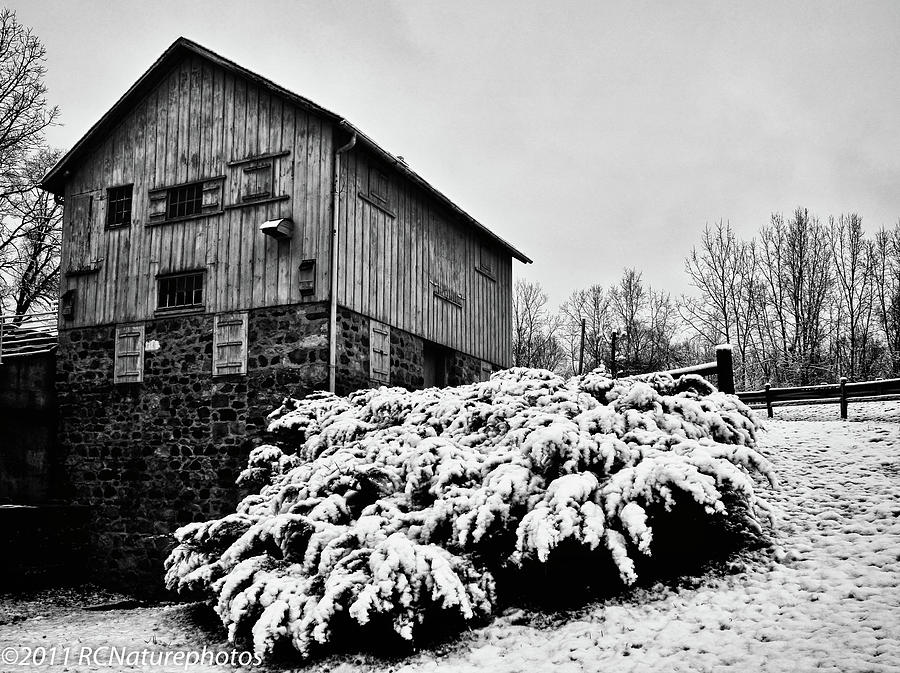 Rachel Cohen Photograph - Grist Mill In Winter - Hdr by Rachel Cohen