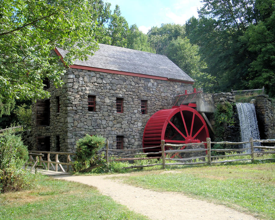Grist Mill Photograph - Grist Mill  Massachusetts by Patricia Urato