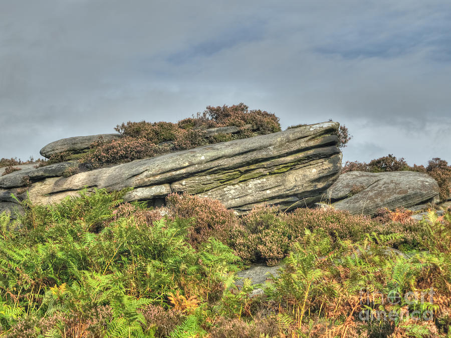 Gritstone Photograph - Gritstone Outcrop - Colour by Steev Stamford