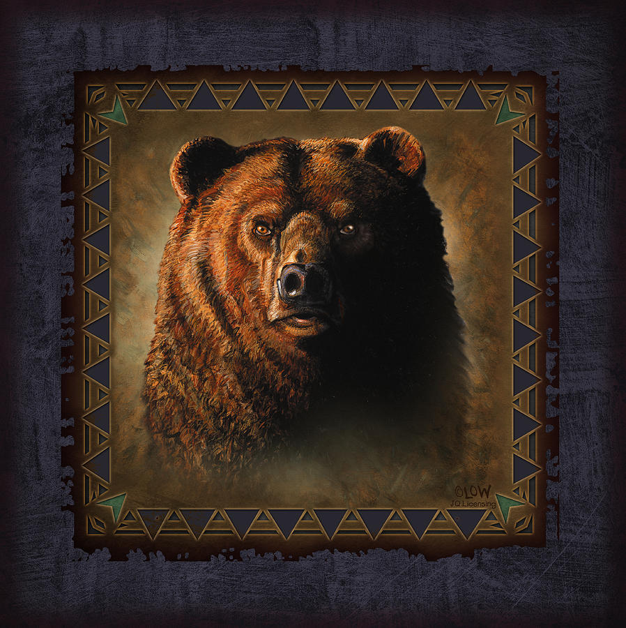 Wildlife Painting - Grizzly Lodge by JQ Licensing