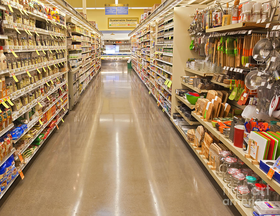 Grocery Store Aisle Photograph By David Buffington