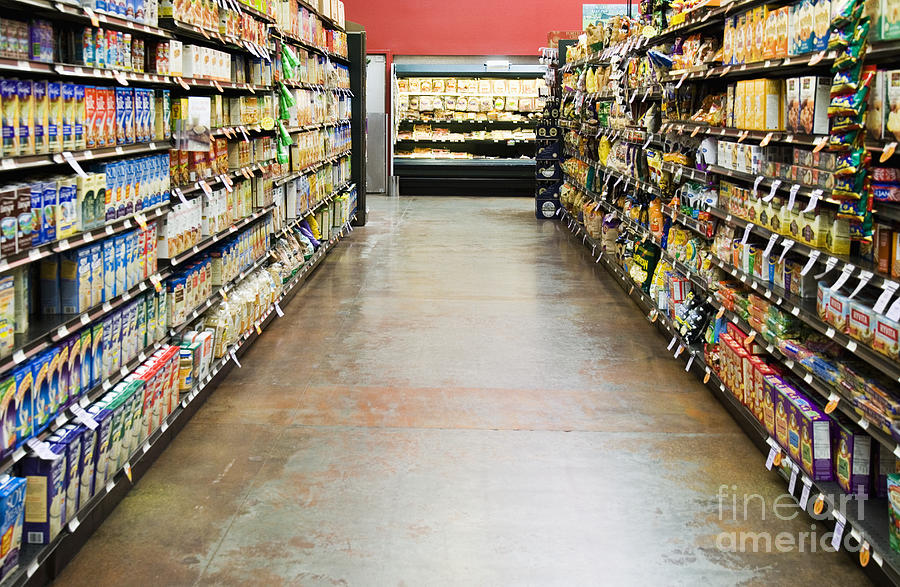 Building Photograph - Grocery Store Isle by Andersen Ross