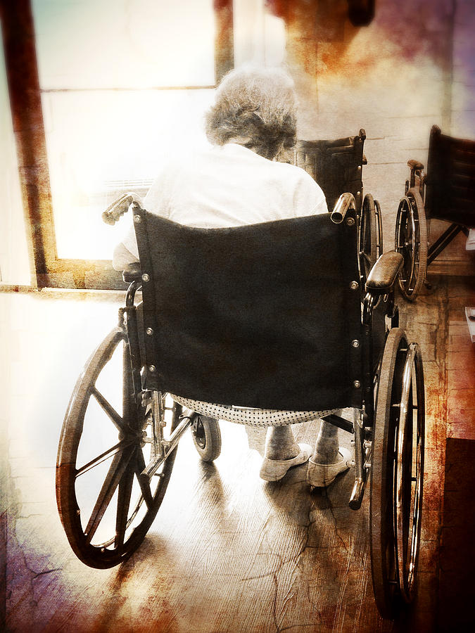 Wheelchair Photograph - Growing Old by Robert Smith