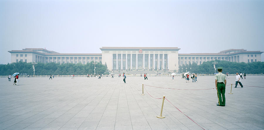 China Photograph - Grteat Hall Of The People In Beijing In China by Shaun Higson