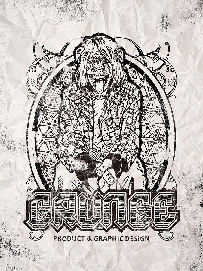Grunge Is Funny Drawing by Charles Cenci