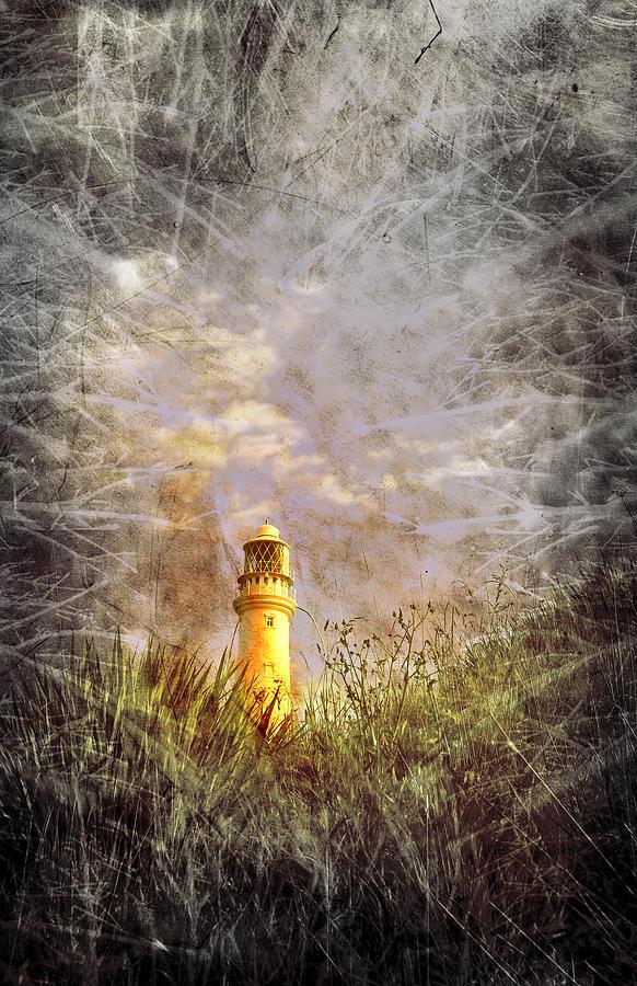 Aqua Photograph - Grunge Light House by Svetlana Sewell
