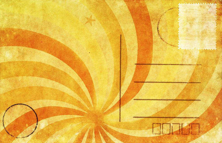 Address Photograph - Grunge Ray On Old Postcard by Setsiri Silapasuwanchai