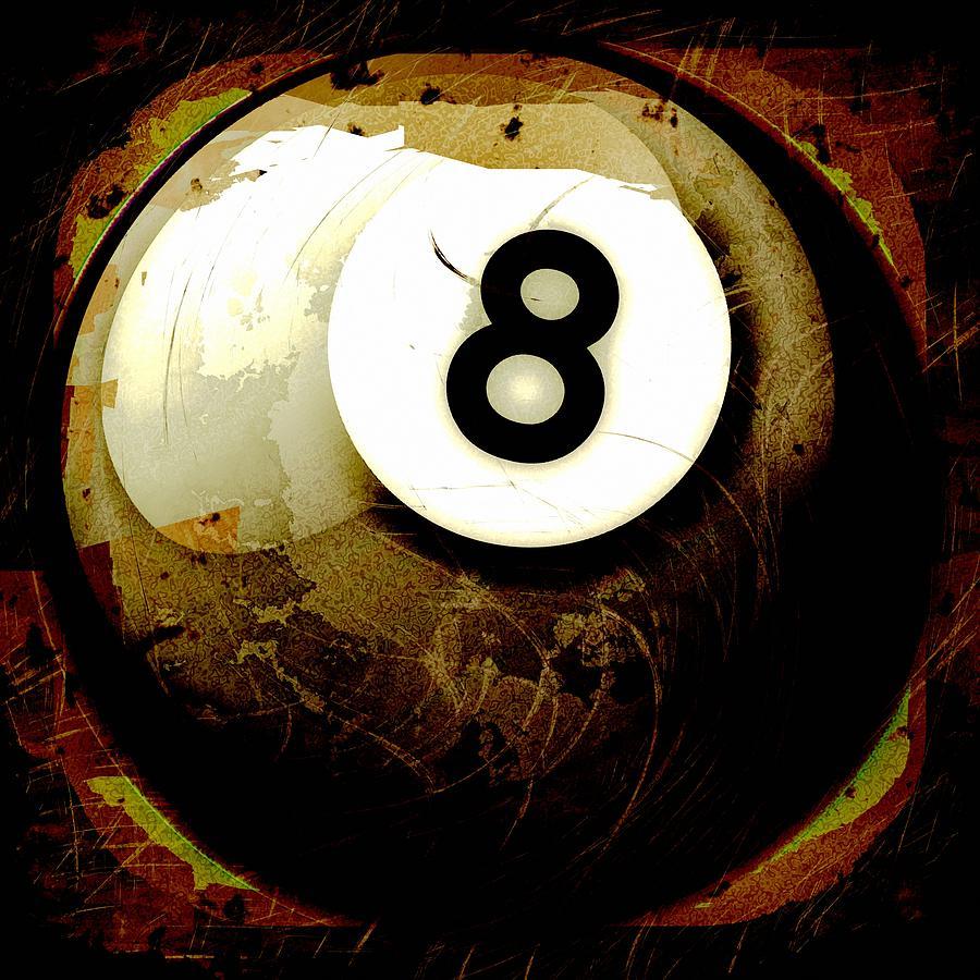 8 Photograph - Grunge Style 8 Ball by David G Paul