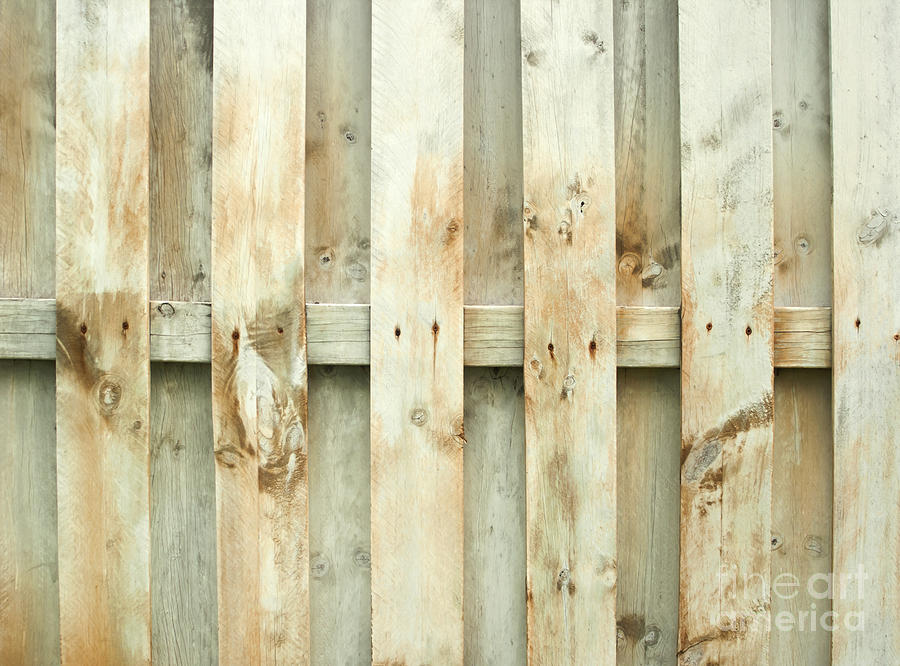 Fence Photograph - Grungy Old Fence Background by Blink Images