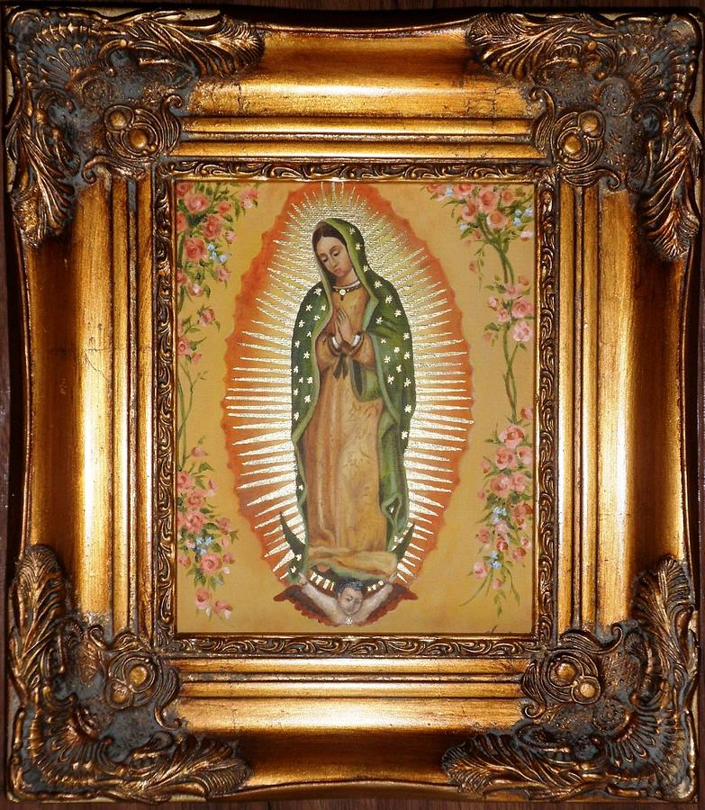 Virgen Painting - Guadalupe by Lena Day