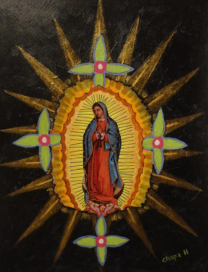 Guadalupe Painting by Manny Chapa