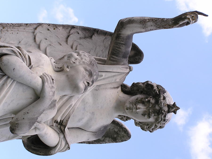 Statue Photograph - Guardian Angel by Andrea Drake