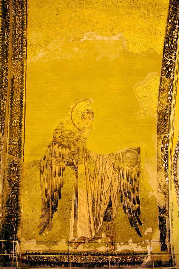 Artistic Photograph - Guardian Angel Byzantine Art by Artur Bogacki