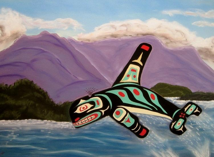 Haida Pastel - Guardian Of The Oceans by Judi Schultze
