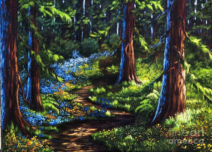 Landscape Painting - Guardians by Patricia Reed
