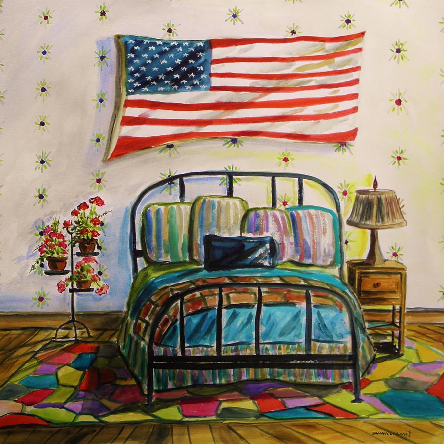 American Flag Painting - Guest Bedroom by John Williams