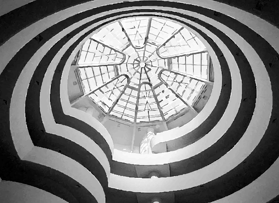 New York City Photograph - Guggenheim Museum Bw200 by Scott Kelley
