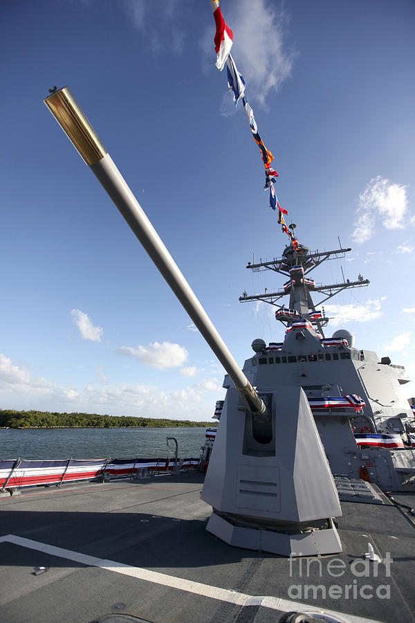 Florida Photograph - Guided-missile Destroyer Uss Jason by Stocktrek Images