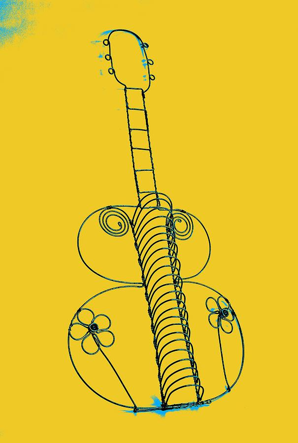 Art Pyrography - Guitar 2 by Mauro Celotti