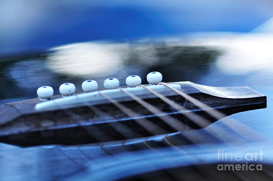 Photography Photograph - Guitar Abstract 4 by Kaye Menner