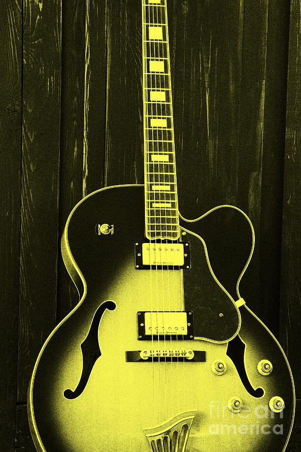 Guitar In Yellow Photograph by Sophie Vigneault