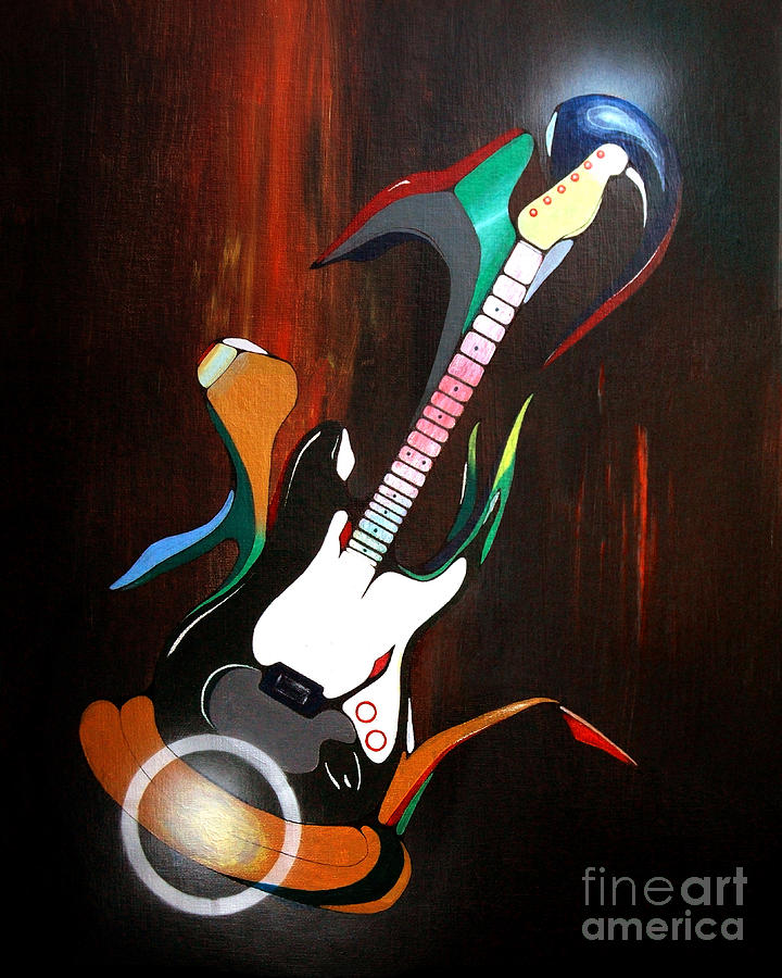 Guitar Painting - Guitar Melody by Peter Maricq