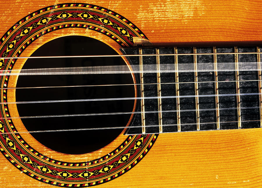 Musical Instrument Photograph - Guitar String Vibrating by Andrew Lambert Photography