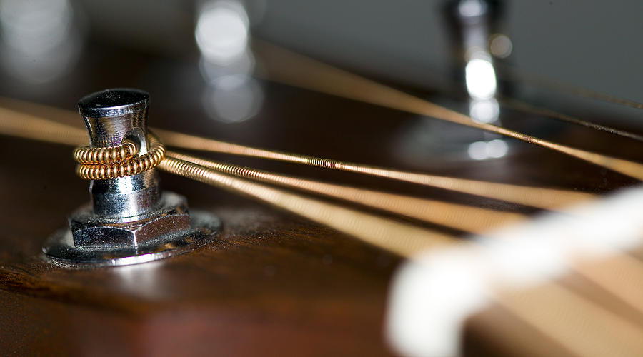 Musical Photograph - Guitar String Windings by C Ribet