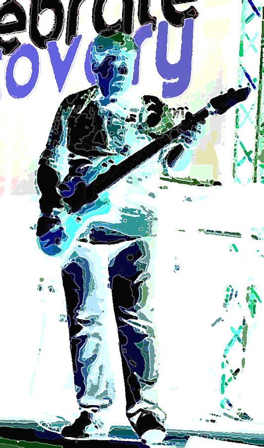 Gallery Art Photograph - Guitarrist by David Alvarez