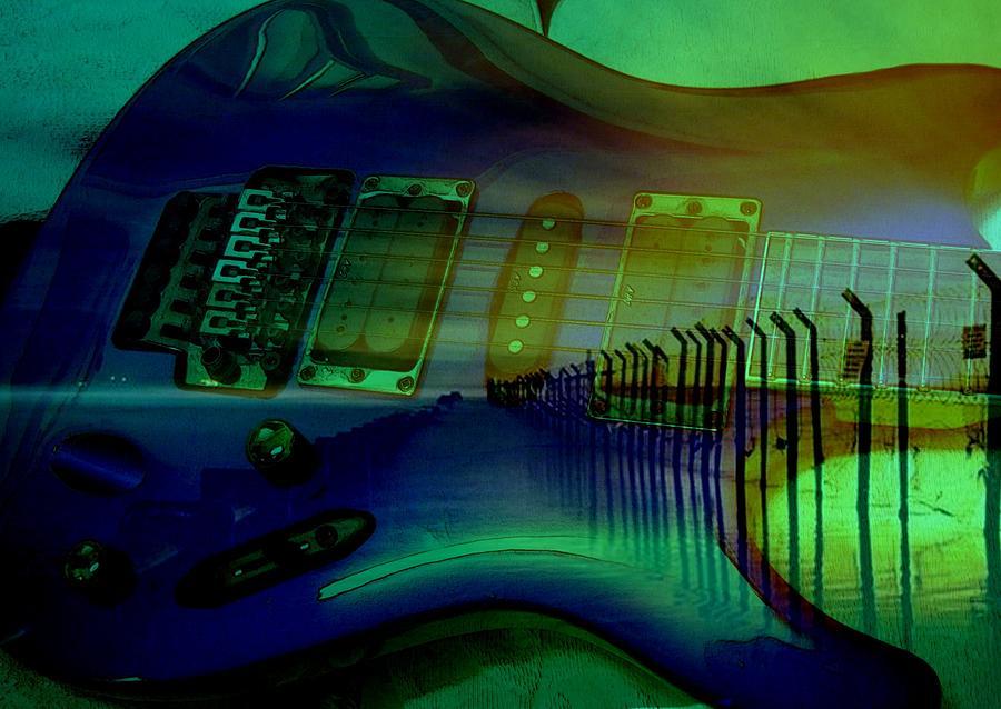 Guitart Digital Art by Jon Palm