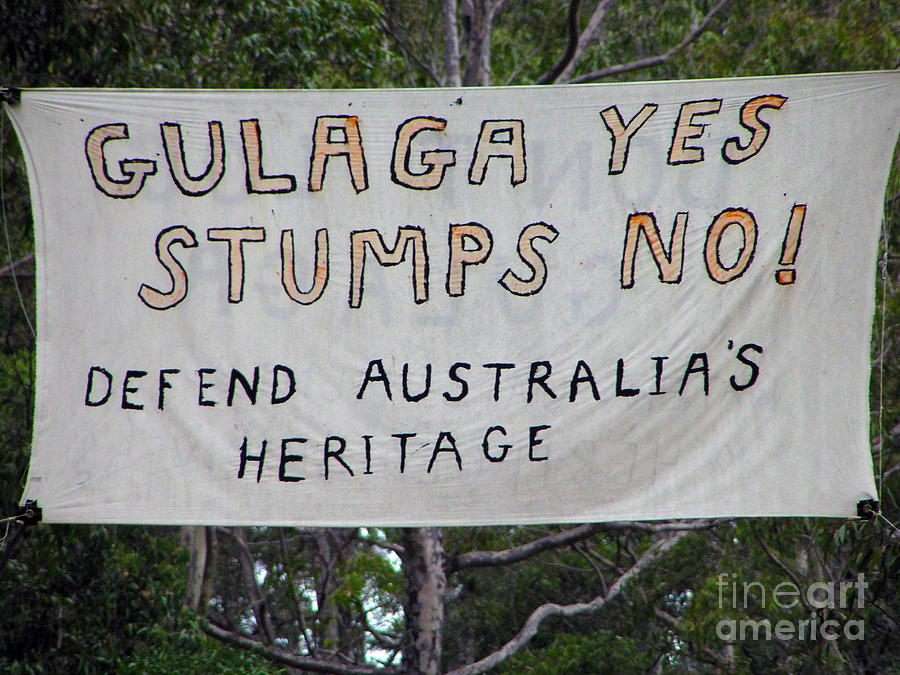 Gulaga Photographs Photograph - Gulaga Protest Sign by Joanne Kocwin