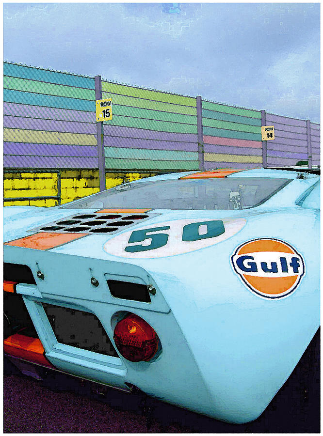 Cars Digital Art - Gulf 50 by Kenneth Breeze