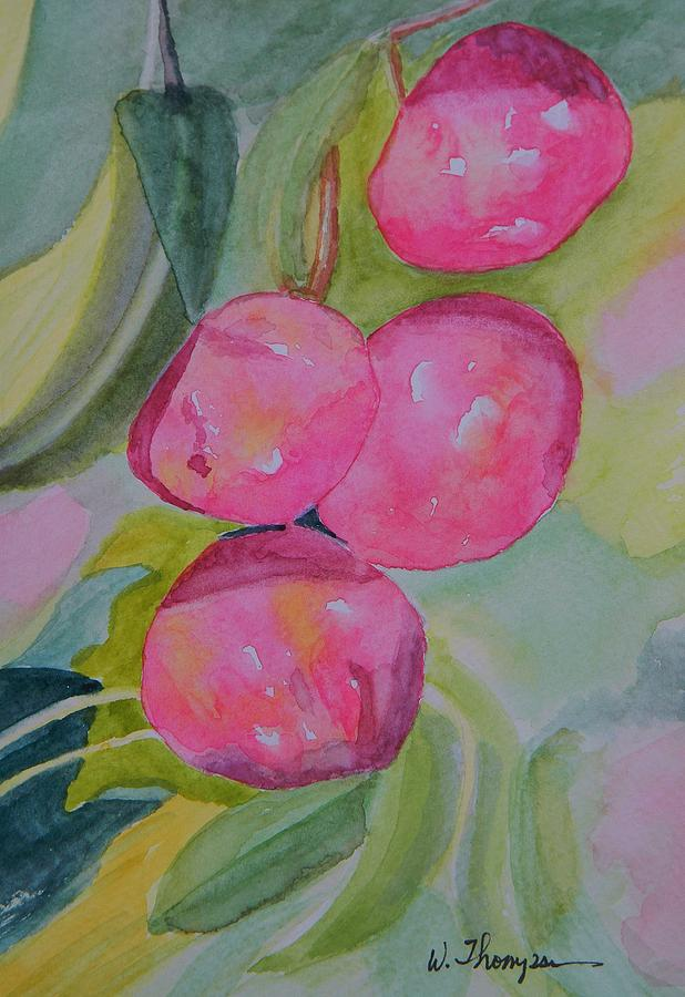 Plums Painting - Gulf Ruby Plums by Warren Thompson
