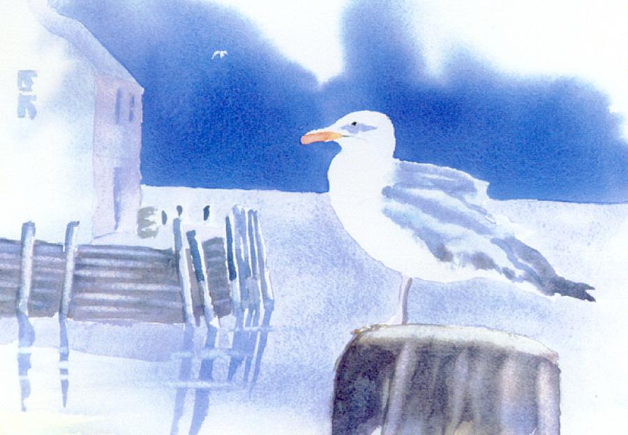 Seagull Painting - Gull Watch by Joseph Gallant