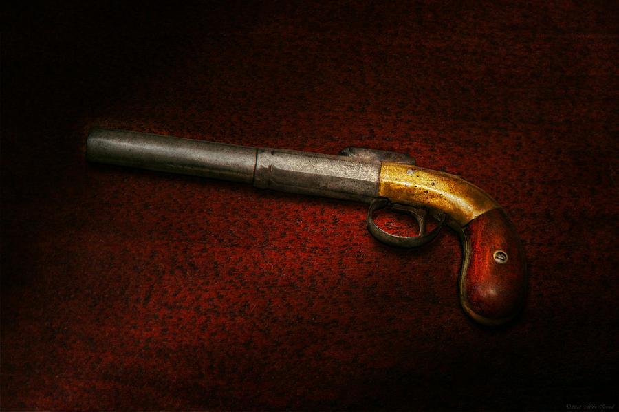 Gun Photograph - Gun - The Shooting Iron by Mike Savad