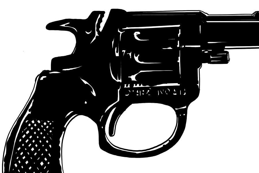 Classic Gun Drawing - Gun Number 3 by Giuseppe Cristiano