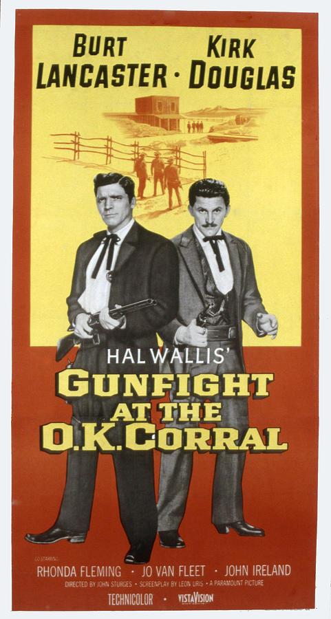 1957 Movies Photograph - Gunfight At The O.k. Corral, Burt by Everett