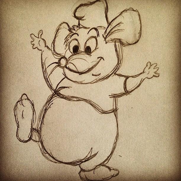 Mini Photograph - Gus Gus😄🐭 #cinderella #mouse by B C