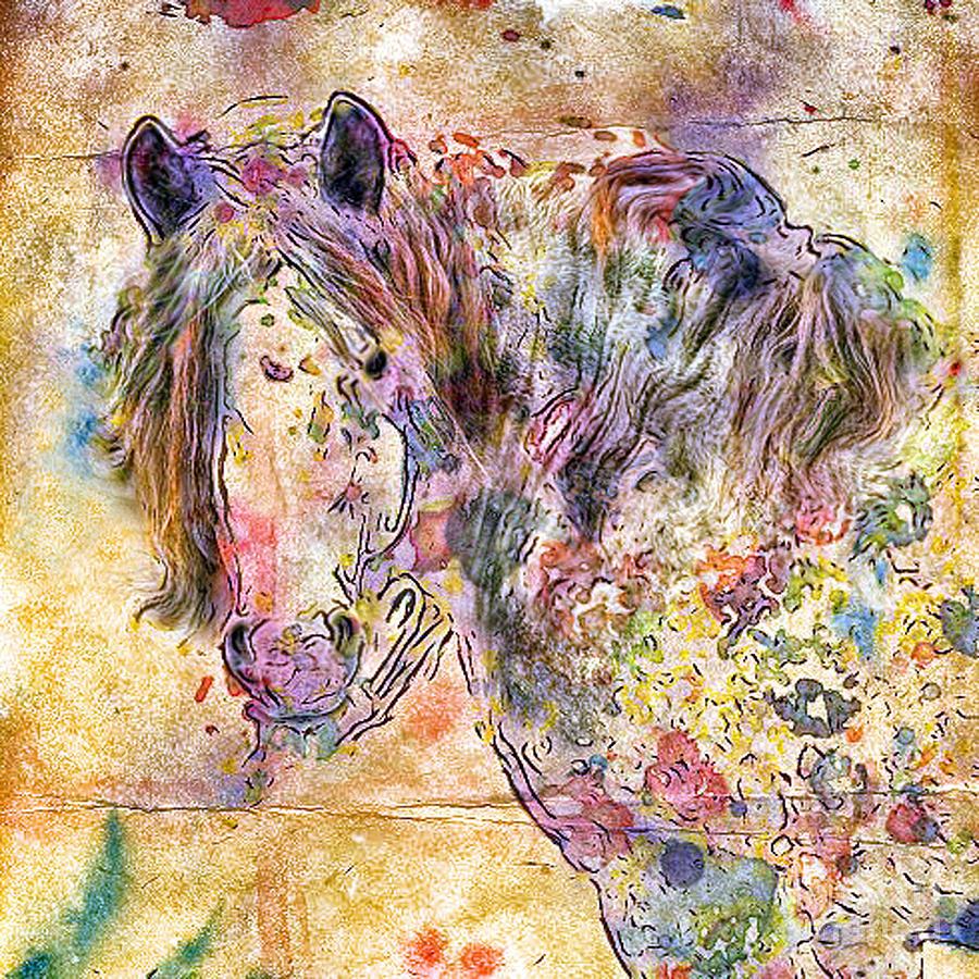 Horses Digital Art - Gypsy Babe by Marilyn Sholin