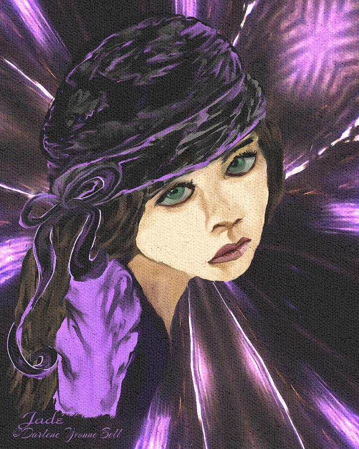 Gypsy Painting - Gypsy Jade by Darlene Bell
